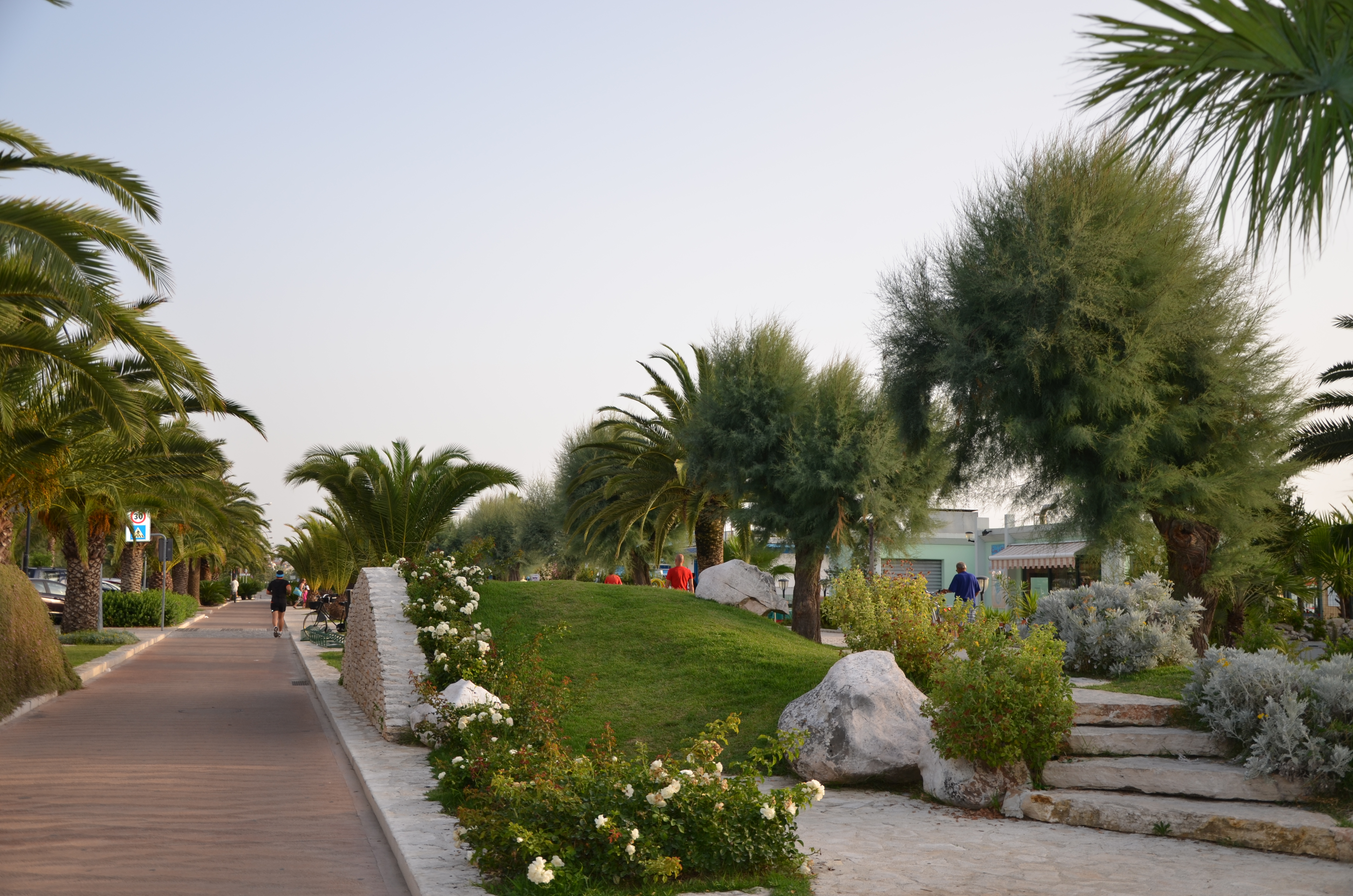 Cycling lane along the seafront